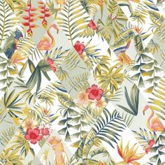 The jungle collection is full of colour and motifs with bright, tropical, on-trend opulence.Half match: please call for quantity advice.Offer off first order: CASELTEN Hall Wallpaper, Bird Wallpaper, Green Wallpaper, Modern Wallpaper, Wallpaper Samples, Wallpaper Online, Wallpaper Jungle, Amazing Wallpaper, Motif Tropical