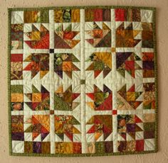 Autumn Mini Quilt - by Sue Smith @  sew-whats-new.com