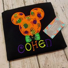 Halloween Mickey Disney Shirts, Personalized Embroidery Onesie and Shirts in all sizes, ShirtsFamily Vacation, Special Occasion and Events. by WhomadeDatNola on Etsy https://www.etsy.com/listing/244896507/halloween-mickey-disney-shirts