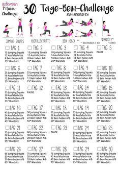 beautiful, tight legs: The Leg Challenge! - Fitness: Workouts & Motivation -For beautiful, tight legs: The Leg Challenge! Fitness Workouts, Fitness Herausforderungen, Fun Workouts, At Home Workouts, Fitness Shirts, Enjoy Fitness, Physical Fitness, Fitness Journal, Pilates Workout Videos