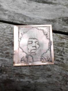 Etching experiment- bronze etchant ferric chloride.