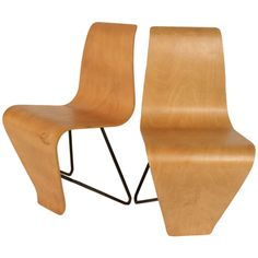 Pair of Andre Bloc Bellevue Chairs from Maison Andre Bloc, 1951. | From a unique collection of antique and modern chairs at http://www.1stdibs.com/furniture/seating/chairs/