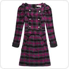 office ladies dress in winter k704 Purple