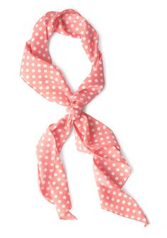 Bow to Stern Scarf in Pink Dots. Youll be the ranking skipper of style when youre seen waving from the deck in this darling scarf! #gold #prom #modcloth