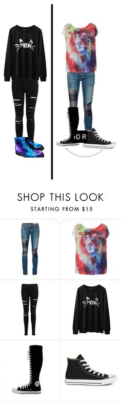"""""""DanandPhil/AmazingPhil Inspired Outfits"""" by vidiarocks ❤ liked on Polyvore featuring rag & bone/JEAN, Miss Selfridge and Converse"""