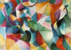 Sonia Delaunay-Terk, Bullier (Simultane kleuren), 1913, olieverf op doek, 97 x 139 cm, Bielefeld, Städtische Kunsthalle