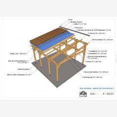 Le plan de votre CARPORT / PRÉAUX / AUVENT sur mesure Plan Carport, Plane, Outdoor Furniture, Outdoor Decor, Sun Lounger, Home Decor, Car Shed, Wood Construction, Hammock Chair