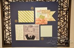 Stampin' Dolce: September stamp club - Hello, Lovely scrapbook layout