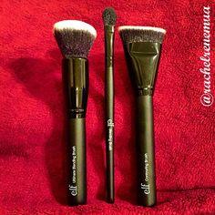 """""""I'm loving my new @elfcosmetics brushes! This contouring brush is one of my new favs!  #elfcosmetics #elfarrivals #brushes #makeupbrushes #mua…"""""""