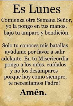 God Prayer, Daily Prayer, Prayer Quotes, Bible Verses Quotes, Mom Quotes, Bible Scriptures, Spanish Inspirational Quotes, Spanish Quotes, Catholic Prayers In Spanish