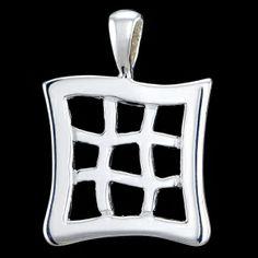 Silver pendant, tic-tac-toe Silver pendant, Ag 925/1000 - sterling silver. Tic-tac-toe pendant. Dimensions approx. 19x25mm.