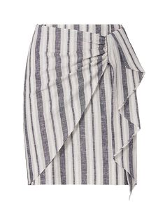 1bbe110d988 Exclusive for Intermix Uma Striped Skirt  Zip closure at back. Gathered  fabric detail at