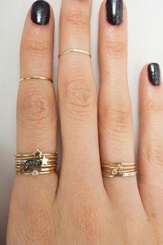 Stacks & midi rings