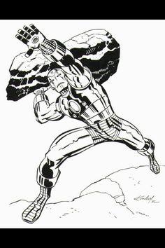 Iron Man by   Jack Kirby ... °°