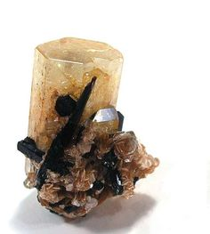 Goshenite (Beryl) with Schorl Locality:  Erongo... - A love for minerals