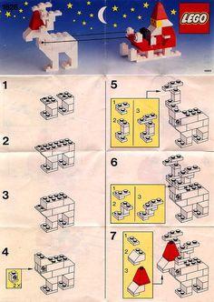 Basic - Santa with Reindeer and Sleigh [Lego . - Basic – Santa with Reindeer and Sleigh [Lego - Lego Duplo, Lego Christmas Ornaments, Lego Christmas Village, Lego Basic, Lego Winter, Santa With Reindeer, Reindeer And Sleigh, Lego Club, Lego Design