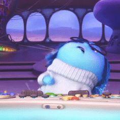Inside Out: Sadness Joy Movie, Sadness Inside Out, Animated Movie Posters, Random Gif, Cherry Blossom Season, Cartoons Love, Mindy Kaling, Walt Disney Studios, Pixar Movies