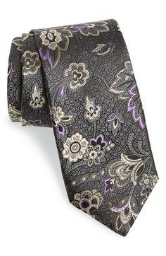 J.Z. Richards Paisley Print Silk Tie