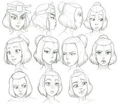 Avatar The Last Airbender Suki Expressions
