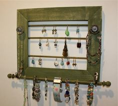 Jewelry Holder with Jewelry BarOrganization and by onthewallusa, $28.00