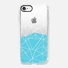 Ab Half and Half Electric Blue Half Transparent  -  #casetifyiphone7 #iphone7 #geometric #abstract