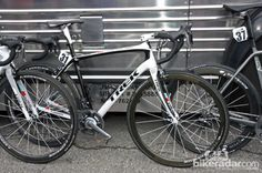 While most of the RadioShack-Nissan-Trek team is using Trek's new Madone 7-Series, Chris Horner took off from Breckenridge aboard a Domane instead.