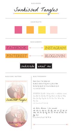 blog design / moodboard - by lovelight creative