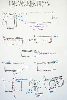 DIY ear warmer from old sweater