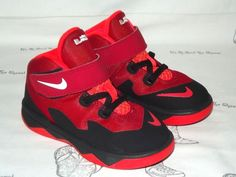 3f2042bcd5b NIKE Lebron Soldier 8 Red Black Sneakers Toddler Size 8  fashion  clothing   shoes  accessories  babytoddlerclothing  babyshoes (ebay link)