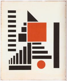 Berlewi Henryk 1924 Composition In Red Black And White gouache on paper 98x81 cm