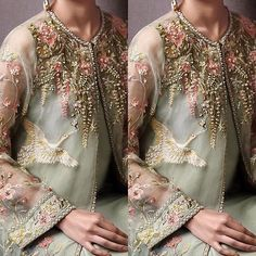 Ideas for girls' outfits on engagement party #pastels #pakistanifashion