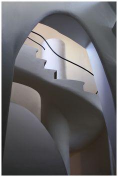 Casa Batlo Spiral Stairs, Barcelona by Antoni Gaudi. Inspirational.