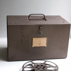 Film Reel Storage Box with Film Reels and Canisters by blackbirdvintage for $26.00