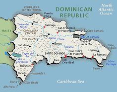 Dominican Republic Map Dominican Republic Pinterest - Dominican republic map