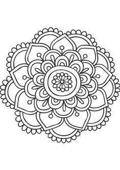 Les Lectures De Carol Mandalas Mandala Simples Simple Designs
