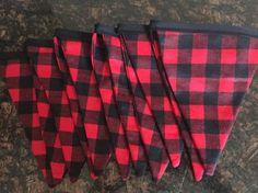 Lumberjack Red and Black Buffalo Plaid by FancyFlagsandBanners
