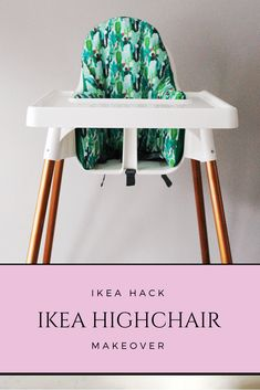 IKEA hack high chair makeover with copper spray paint