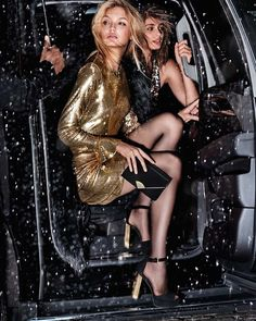 Taylor Hill and Romee Strijd for MICHAEL Michael Kors Holiday '17.