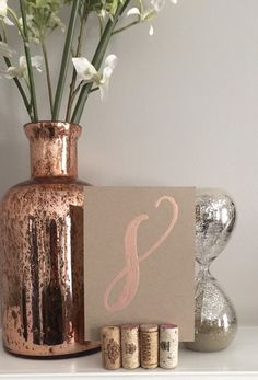 Rose Gold/Blush Table Numbers