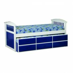 A convenient bed for storing a guest bed out of the way and providing you with storage at the same time.