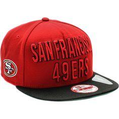 San Francisco 49ers Word Stack Snapback Hat (Red Black) 67c5c328ebb
