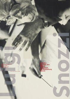 Luigi Snozzi poster, 1996, MfG Zürich. Design: Eckert/Strebel   #WSD2016  via @HamishMuir