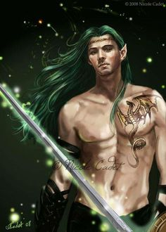 Male Elf with Dragon Tattoo