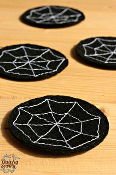 4 Halloween Coasters Halloween Home Decorations by QuirkySewing