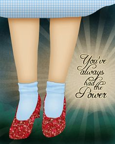 You've Always Had the Power - 8x10 Print.  By tucker reece via Etsy.