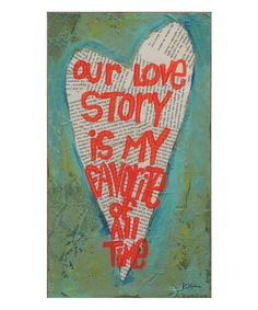Look at this 'Our Love Story' Wall Plaque on #zulily today!