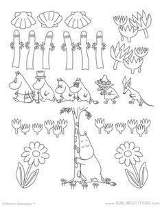 MOOMIN / Moomin Motifs - Embroidery Patterns