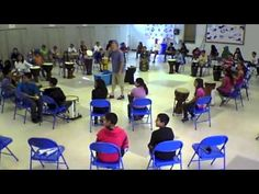 This is an Elementary School Drum Circle for and graders. Since I wanted to get the younger kids involved, I had the graders watching and. Drum Lessons, Music Lessons, Harmony Music, Bucket Drumming, Middle School Music, Music And Movement, Music Activities, Elementary Music, Music For Kids