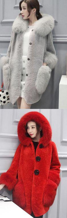 Women's Plus Size Casual/Daily Street chic Fall Winter Fur Coat