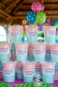 custom cotton candy colors and cups come with no label for your party pleasure! Cotton Candy Favors, Cotton Candy Cakes, Cotton Candy Party, 5th Birthday Party Ideas, 10th Birthday Parties, Unicorn Birthday, Unicorn Party, Candy Labels, Candy Floss